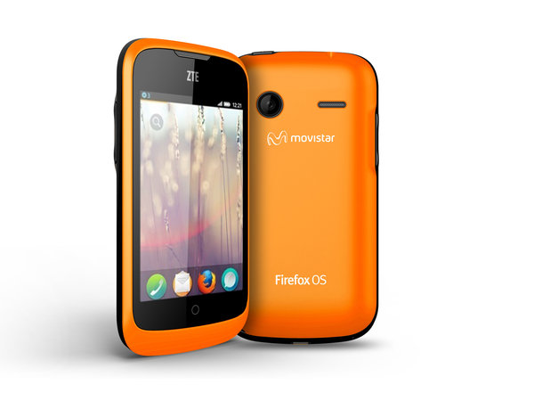 Firefox OS, as seen on a ZTE smartphone.