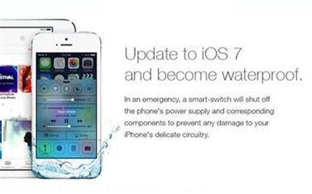 Fake iOS 7 ad