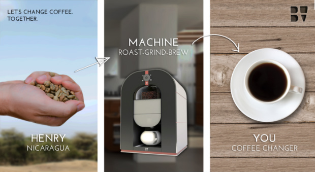 Bonaverde Coffee Changers launches its roast-grind-brew coffee machine on Kickstarter