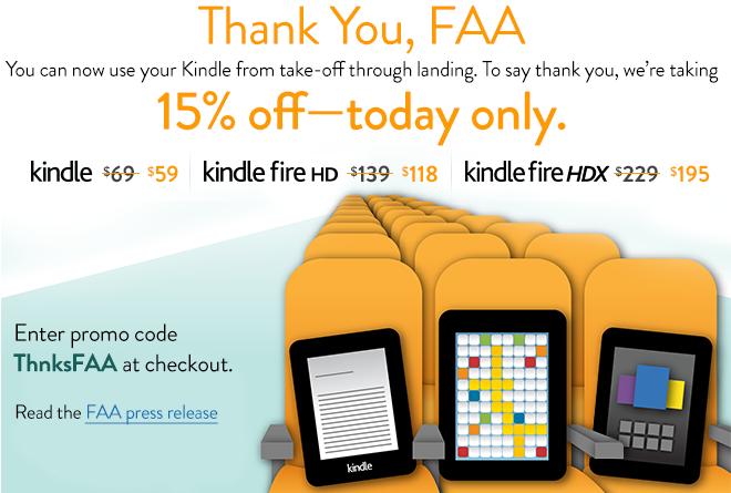 Amazon offers Kindle discounts