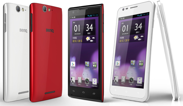 New BenQ smartphones, namely the F3 and A3.
