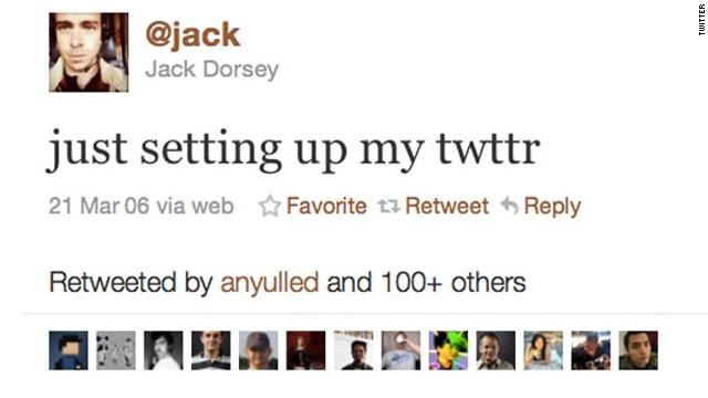 First tweet on Twitter