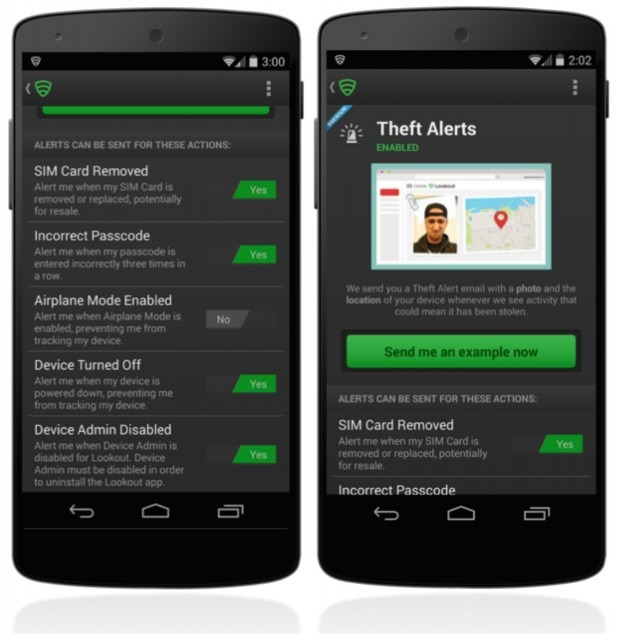 Lookout anti theft app